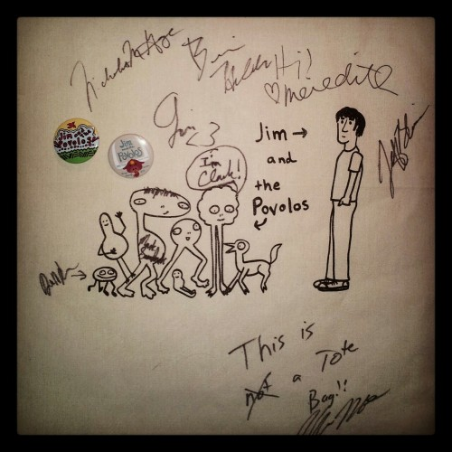 The tote bag I bought and got autographed at the minitaur :D http://instagram.com/fymusicfanart/