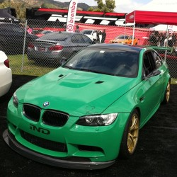 The #GreenHell. #E92 #BMW #M3 at #Bimmerfest. Dig the color and wheels! You? #green #verde #vert #midori #bimmer #mfest  (at Bimmerfest 2013)