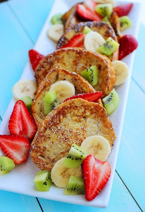 in-my-mouth:  French Toast with Fruit