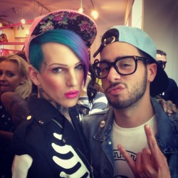 Rocking this shit with Jeffree Star at the #Joyrich Spring/Summer Collection Launch Party