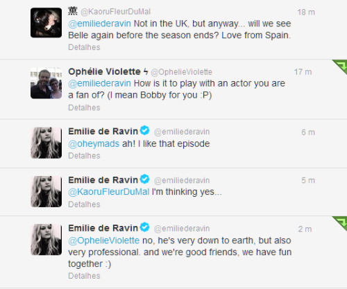 mypriceisher:  YES!  Belle will back and Emilie talk about Bobby *-*