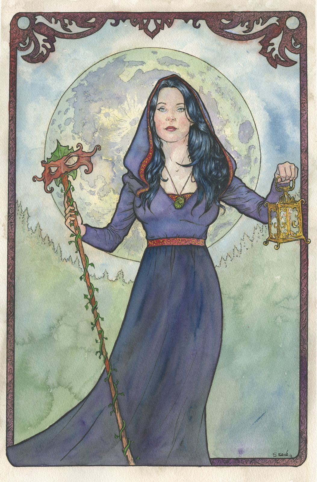 This is the 11th Art Nouveau/Alphonse Mucha inspired watercolor painting I've done this year.The painting is on 15x22 inch Arches Cold Press watercolor paper. Done in watercolors and ink.Photo reference/inspiration can be seen here…http://browse.deviantart.com/resources/?order=9&q=kuoma&offset=72#/d57jvohOriginal paintings can be purchased here…http://www.etsy.com/shop/ScottChristianSava?section_id=11821287and Limited Edition Prints can be purchased here…http://www.etsy.com/shop/ScottChristianSava?section_id=11821297Thanks for looking!Scott