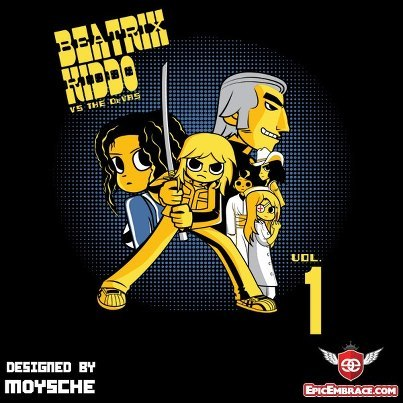 """Beatrix Kiddo vs the DeVas"" is on sale now at Epic Embrace for only $11. March 6+7 and then it be gone!"