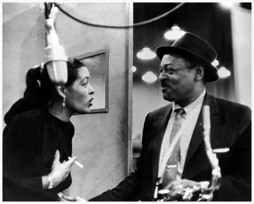 jazzrelatedstuff:  Billie Holiday and Lester Young.