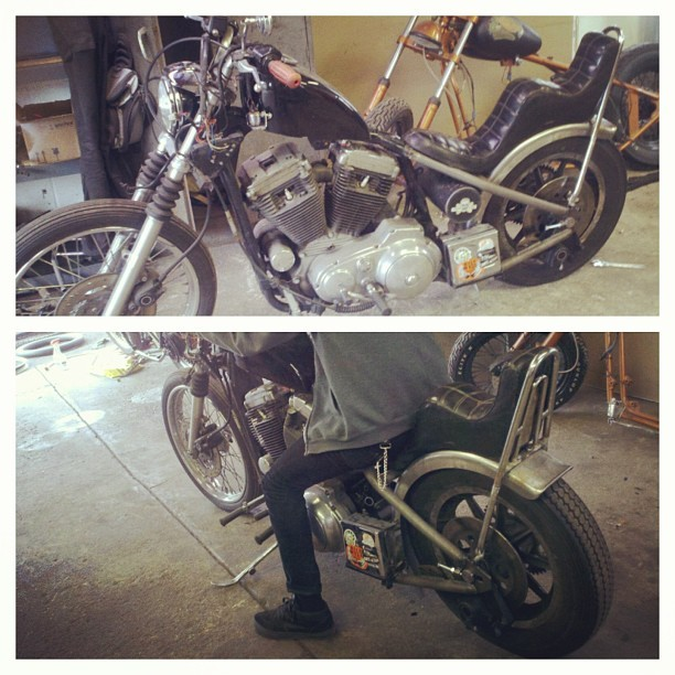 pinnedohio:  Close but no cigar . #chopper #sportster #mine #ftw #chopthatfuckingsporster