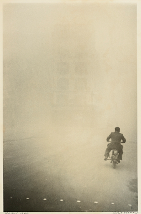lamelancoly:  Robert Frank- Paris ( man on a Motorcycle) 1948