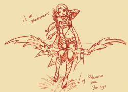 "yukihyo:  ""I am Windrunner.""  Work in progress. I'm new to Dota 2 and all but it feels like her and Enchantress would make good friends.  Windrunner/Dota 2 © Valve Art © Me"