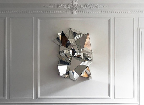 Faceted wall mirror via therealmurphy