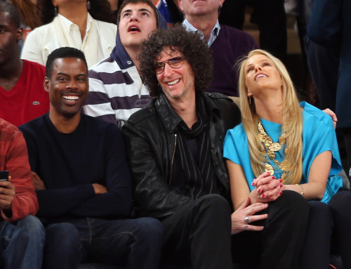 knickscelebs:  Chris Rock & Howard Stern (Knicks vs Memphis) 3/27/13