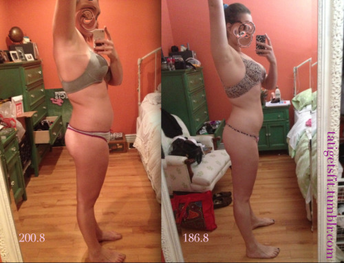 beforeandafterfatlosspics:  tatigetsfit Posting another photo because today I feel like complete garbage, I pretty much inhaled everything I saw (and not that it was necessarily THAT bad of food it's just stuff that I never really bother eating anyways like pasta and some cookies) And I feel gross and I needed this photo as a pick me up to just get back at it Well, this is me. 19 year old and 5'10 1/2, been trying to lose weight since forever. I finally just understood what to do and stick with it. I exercise 5-6 days a week. Lot's of cardio- I mainly do jogging (3.2 miles), cycling, stairmaster and the elliptical (mer, I don't like). Everything in moderation and lots and lots of water! This weight difference is about a month and a half apart. Side viewMessage me for any other questions! tatigetsfit.tumblr.com