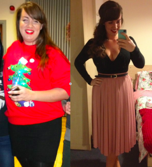 theloserdiary:  People at Slimming World asked for a photo of me before I lost the weight and I dug out this absolutely horrendous photo from a bad Christmas jumper party in December. Look at all the chins! I was convinced that this was just a bad angle, but I was actually clinically obese…