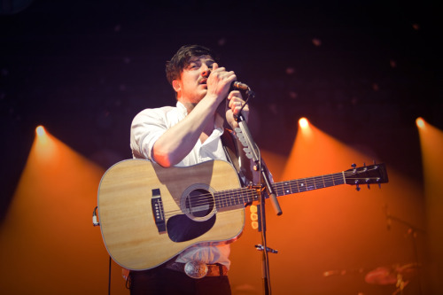 Marcus Mumford of Mumford & Sons performs at the Zenith in Munich, Germany on 11th March, 2013. Photo © Andre Habermann.