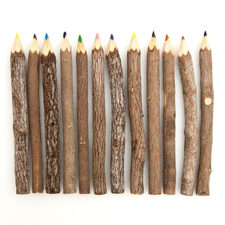 squeedesign:  Branch Coloured Pencils Dig into your creative roots and color your world with these coloured pencils. Give yourself leeway to express your most natural instincts on paper with these in hand.  Each set comes with 12 assorted colours and the price is $12 Squee: facebook / twitter