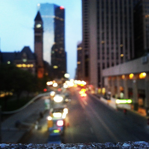 blurry Toronto lights #Toronto #downtowntoronto #lights