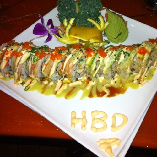Happy Birthday to me!! #sushi #birthday #instagood #instamood #nomnomnom #delicious #foodporn #foodart #foodie #culinaryartist #culinaryart #gastronomic #gastronome #masterchef #topchef #hirollin #healthy #fitness #drool #fresh