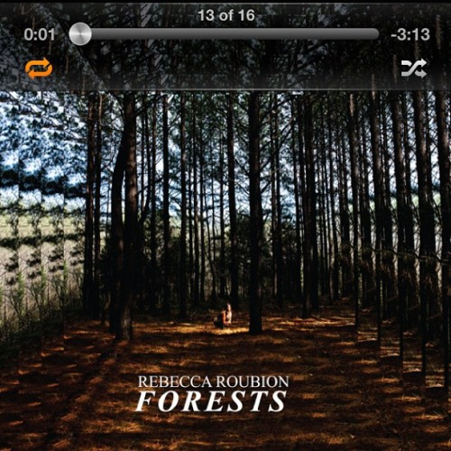 Loving new music from my friend @rebeccaroubion #forests #fields Check her out folks!