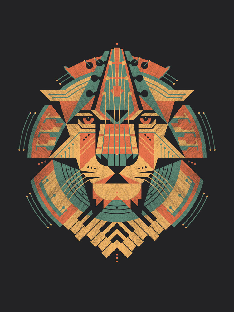augmariej:  A musical lion print by DKNG.   Musicians art