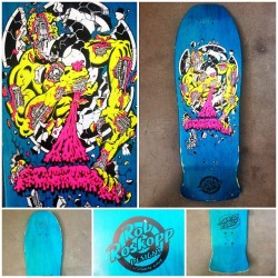 Deck of the Day | Santa Cruz | Rob Roskopp | Art by Jim Phillips  The rarest Roskopp of the series…never reissued    @jimphillips @santacruz @robroskopp #sk8face