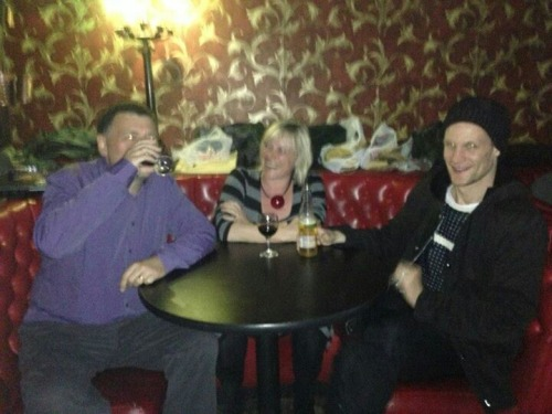 So today in Brooklyn,Matt,Steven and Sue enjoyed a drink @ the way station aka the tardis bar i visited last month. fml those lucky people met Matt Smith and Steven Moffatt while screening the season finale!!!  More importantly…I can safely say I've been in the same place as them..lol – View on Path.