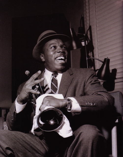 bainer:  Thad Jones during his The Magnificent Thad Jones session, Hackensack NJ, February 2 1957 (photo by Francis Wolff)