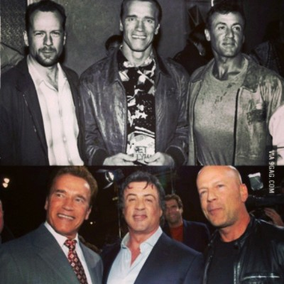 These men <3 #Swartz #Stallone #Willis #:D (my favorite is Willis <3)