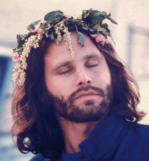 jim morrison in a  flower crown