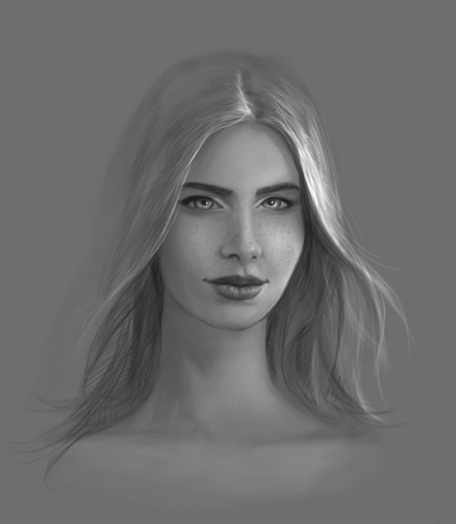 Today´s study with the new Wacom Cintiq 13HD, getting better with it. PS CS6 - 1 ,5 hours. Ref used loosely.