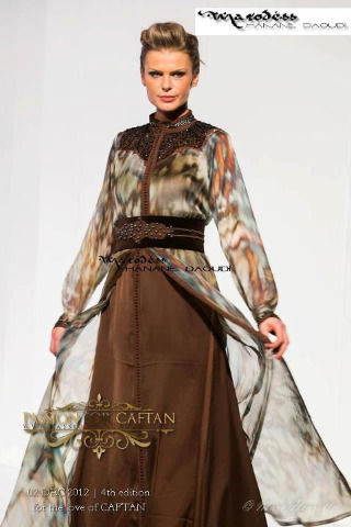 Brown Kaftan by Hanane Daoudi for Passion for Caftan Show. Marodess Couture