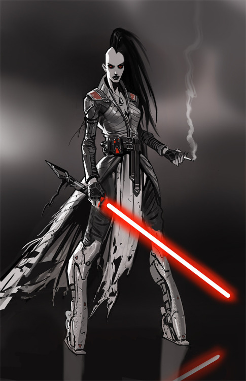 randomghost:  Smoking Sith Sketch by Daryl Mandryk