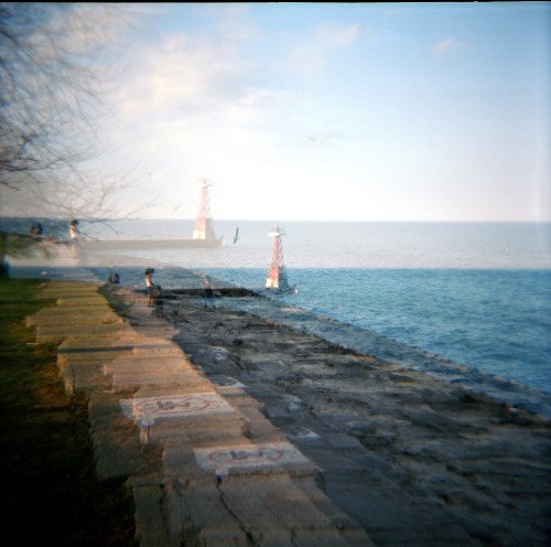 smudgyblurs:   Green is Blues Double exposure of the lake front.   Shame free (since 93) self promotion. I have a blog that is just my photographs. You could follow it.