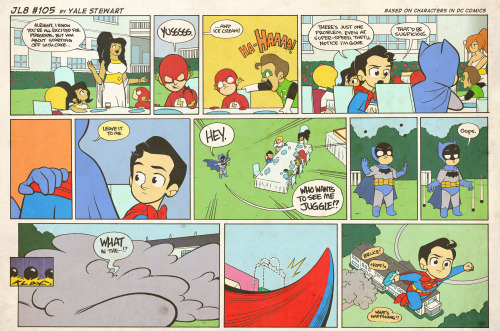 jl8comic:  JL8 #105 by Yale Stewart Based on characters in DC Comics. Creative content © Yale Stewart. Like the Facebook page here! Archive 2013 Con Schedule