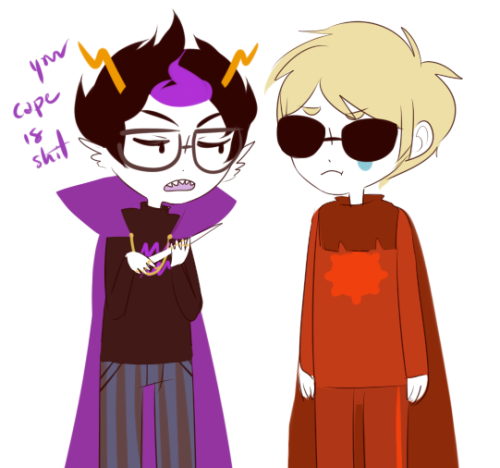 the-strider-squad:    Anonymous asked you:draw dave? or eridan?  have both