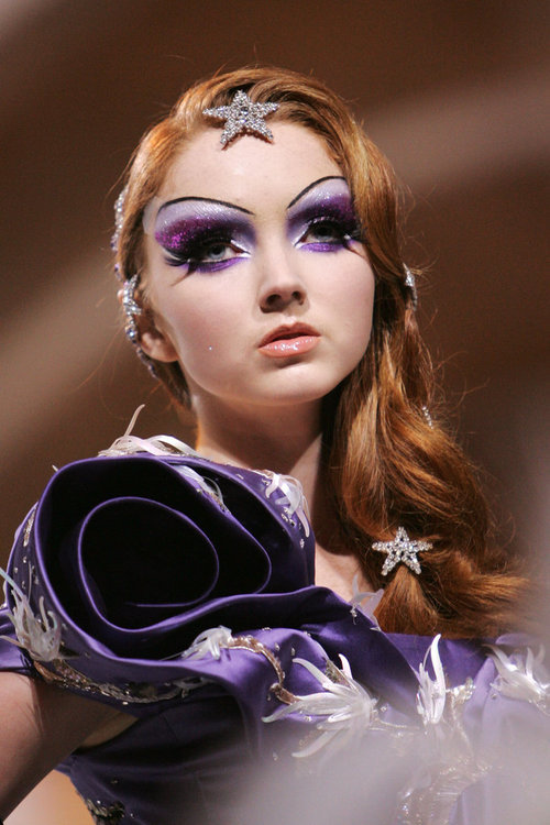 sangriento-mortel:  Beautiful!! Lily Cole. John Galliano for Dior's 60th Anniversary show 2007