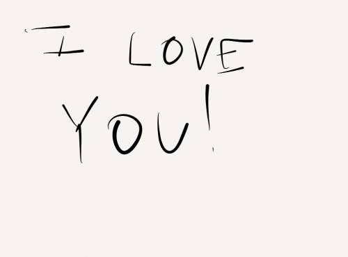 Made with Paper my husband left this message on my ipad this morning. :) which is awesome because I've been  feeling down.