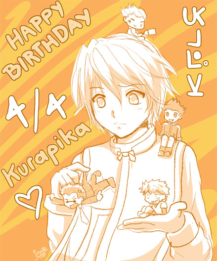 I wanted to draw something for Kurapika's birthday so! Here it is, a quick doodle.