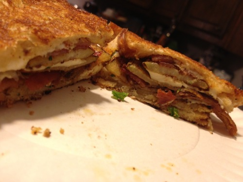 Brooke Taylor send us this photo of her loaded baked potato grilled cheese for our Grilled Cheese Photo Contest. Want a chance to win? Send us a photo of your grilled cheese by the end of today!