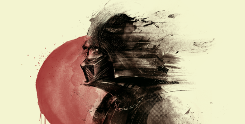 "geeksngamers:  via xombiedirge:  Lord Vader by Marie Bergeron / Tumblr / Store 16"" X 20"" Giclee print, edition of 25. Part of the Arch Nemesis art show at the Hero Complex Gallery / Facebook."