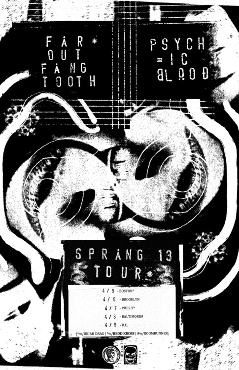 "We are excited to announce our mini-Sprang tour with our buds Psychic Blood to celebrate the announcement of our 2nd record ""Borrowed Time"" set to be released Fall 13' on Siltbreeze Records. Dates and info below:SPRANG TOUR 13' w/PSYCHIC BLOODhttps://www.facebook.com/events/547229855309216/4/5 - Boston - TBA *w/Psychic Blood + Ukiah Drag4/6 - Brooklyn - Death By Audio *w/Psychic Blood + LODRO4/7 - Philly - Kung Fu Necktie *w/REDD KROSS +Psychic Bloodhttps://www.facebook.com/events/126362047539893/?ref=ts&fref=ts4/8 - Baltimore - TBA *w/Psychic Blood + ROOMRUNNER4/9 - DC - TBA *w/Psychic Blood"