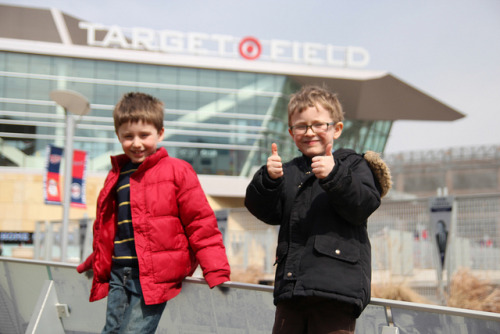 untitled on Flickr.Seth and Sam give Target Field a big thumbs up!