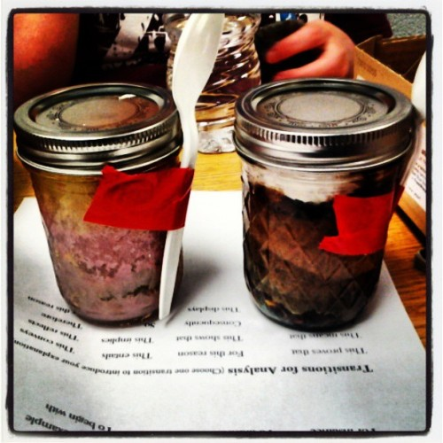 Kylie made mason jar brownies and cakes. I feel slightly proud. #fatherpride