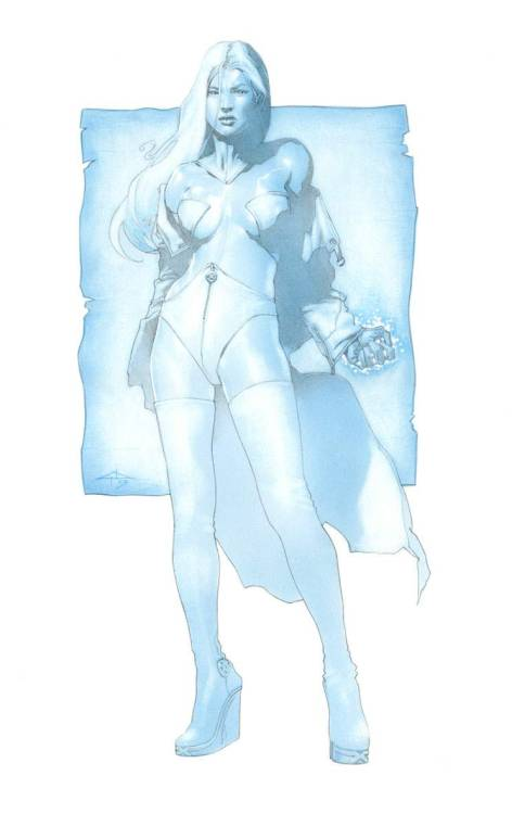 brianmichaelbendis:  Emma Frost by Gabriele Dell'Otto  I want this outfit really bad