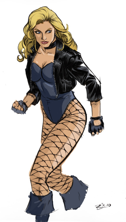 lulubonanza:  Black Canary Inked and Colored by ~irongiant775