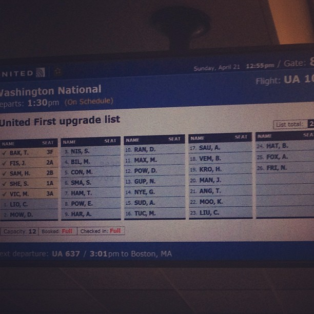 You know you're a big deal when you're number 24 on the upgrade list (at San Francisco International Airport (SFO))