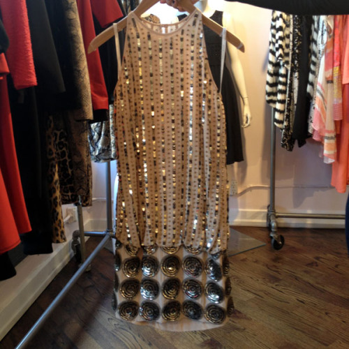 Pretty metallic details at the Tracy Reese showroom. Photographed by Julia Rubin.