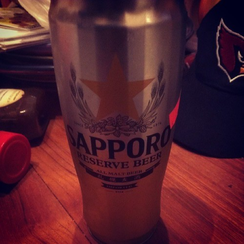 Perfect end to a semi-cruddy day. #personal #sapporo #beer