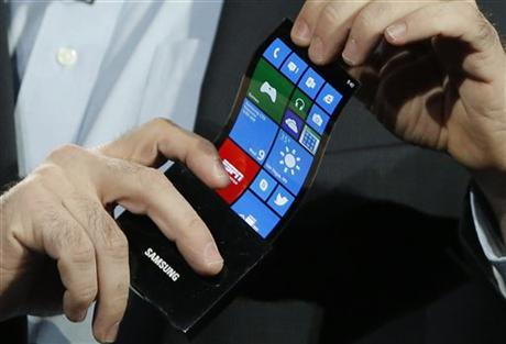hypervocal:  No more cracked phone screens? Check out Samsung's latest.  I've seen the future, and its name is … whatever the name of its phone is.