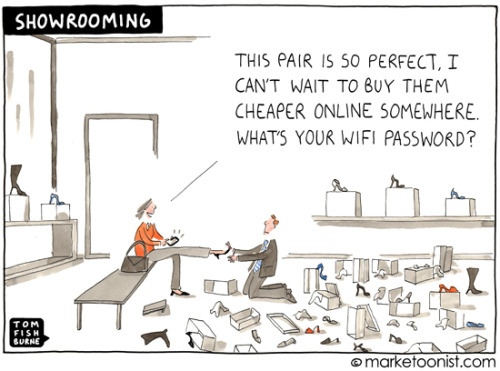 "futuristgerd:  (via ""Showrooming"" cartoon 