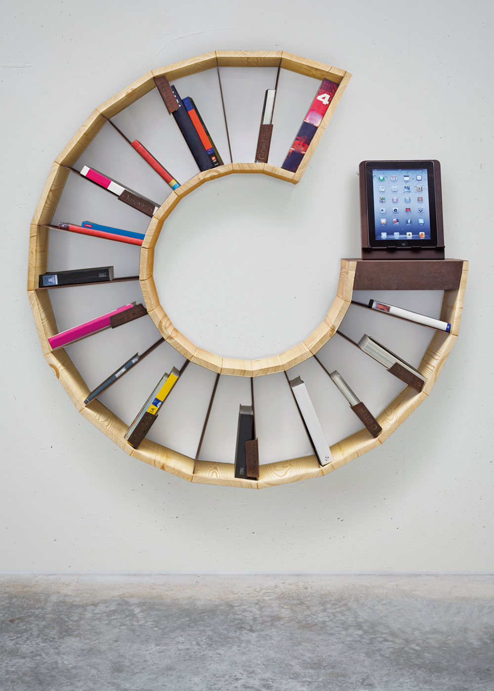 Racconto Plurale bookcase This cool bookcase is designed to collect literary cultural essence of European Union.  Squee: facebook|twitter|signup|