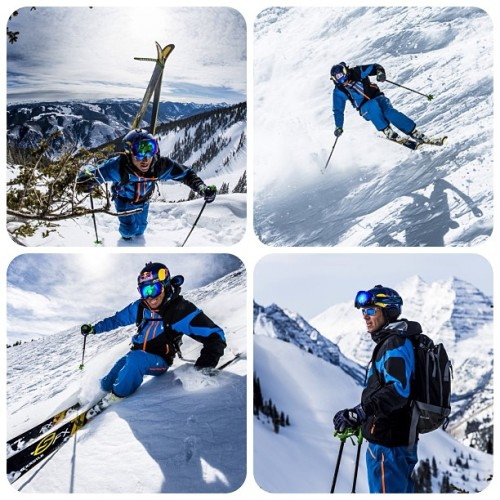 Making photos with @steepskiing in Aspen yesterday. #WhiteSpyder Photos: @arztm