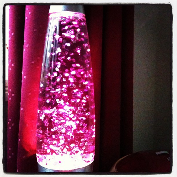 Chloe's new #lamp #pink #glitter #pretty